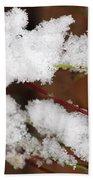 Snow Twig Abstract Bath Towel