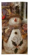 Snowman Photo Art 30 Bath Towel