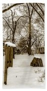 Snowy Afternoon Hand Towel