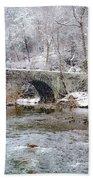 Snowy Bridge Along The Wissahickon Bath Towel