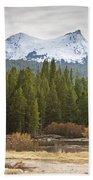 Snowy Fall In Yosemite Bath Towel
