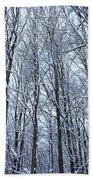 Snowy Forest Bath Towel