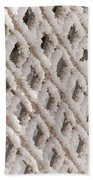 Snowy Lattice Vertical Bath Towel