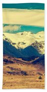 Snowy Mountains Bath Towel