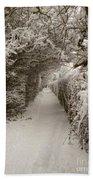 Snowy Path Bath Towel