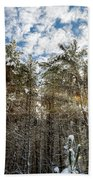 Snowy Pines With Sunflair Bath Towel