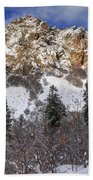 Snowy Ridge Above Bell Canyon - Wasatch Mountains - Utah Bath Towel