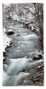 Snowy River At Mt. Hood Hand Towel