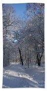 Snowy Trail Hand Towel