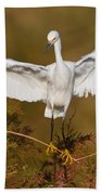 Snowy Wingspread Bath Towel