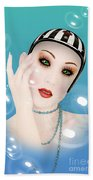Soap Bubble Woman  Bath Towel