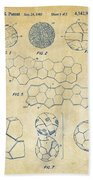 Soccer Ball Construction Artwork - Vintage Bath Towel