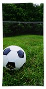 Soccer Ball On Field Bath Towel