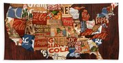 Soda Pop America Bath Towel
