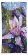Water Lily Photography Tender Moments  Bath Towel