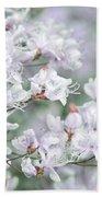 Soft Lavender Dancing Azalea Flowers Bath Towel