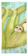 Soggy Mossy Sloth Hand Towel