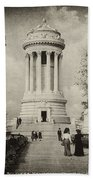 Soldiers Memorial - Ny - Toned Hand Towel