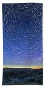 Solstice Star Trails At Dinosaur Park Bath Towel
