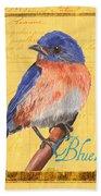 Colorful Songbirds 1 Bath Towel