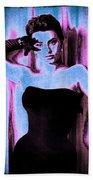 Sophia Loren - Blue Pop Art Bath Towel