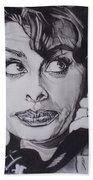 Sophia Loren Telephones Bath Towel