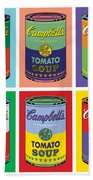 Soup Cans Hand Towel