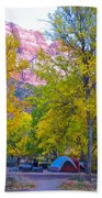 South Campground In Zion Np-ut Bath Towel