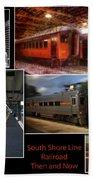 South Shore Line Railroad Collage Bath Towel