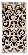 Southern Ironwork In Sepia Bath Towel