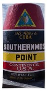Southernmost Point Marker Bath Towel