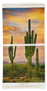Southwest Desert Sunset White Rustic Distressed Window Art Bath Towel