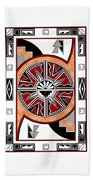 Southwest Collection - Design Six In Red Bath Towel