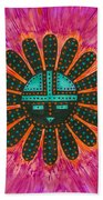 Southwest Sunburst Sunface Bath Towel