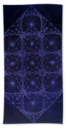 Space Time Sine Cosine And Tangent Waves Bath Towel