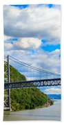 Spanning The Hudson River Bath Towel