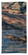 Spectacular View Of Rice Terrace Bath Towel