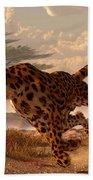 Speeding Cheetah Bath Towel