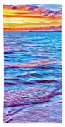 Spencer Beach Sunset Bath Towel