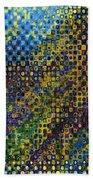 Spex Pseudo Abstract Art Bath Towel