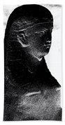 Sphinx Statue Torso Black And White Usa Bath Towel