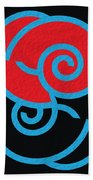 Spirals Bath Towel by Mihaela Stancu