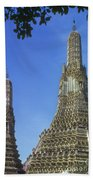 Spires Of The Temple Of Dawn Bath Towel