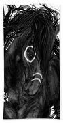 Spirit Feathers Horse Bath Towel