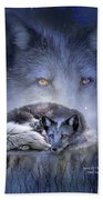 Spirit Of The Blue Fox Bath Towel