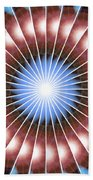 Spiritual Pulsar Kaleidoscope Hand Towel by Derek Gedney