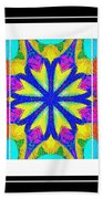 Spirituality - Life Lights - Kaleidoscope - Triptych Bath Towel