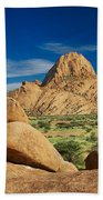 Spitzkoppe Mountain Landscape Of Granite Rocks Namibia Bath Towel