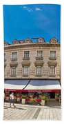 Split Historic Square Panoramic View Bath Towel