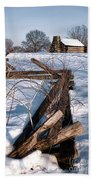 Split Rail And Nation Hand Towel